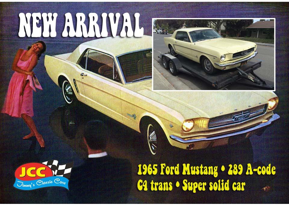 65 Mustang yellow