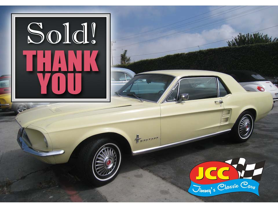 67 Mustang sold