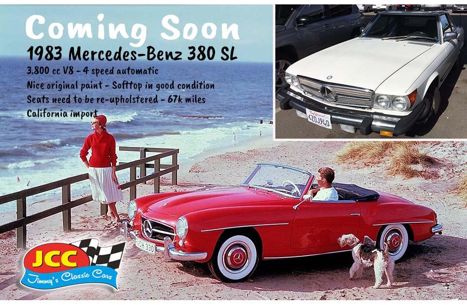 83 Mercedes SL white SF