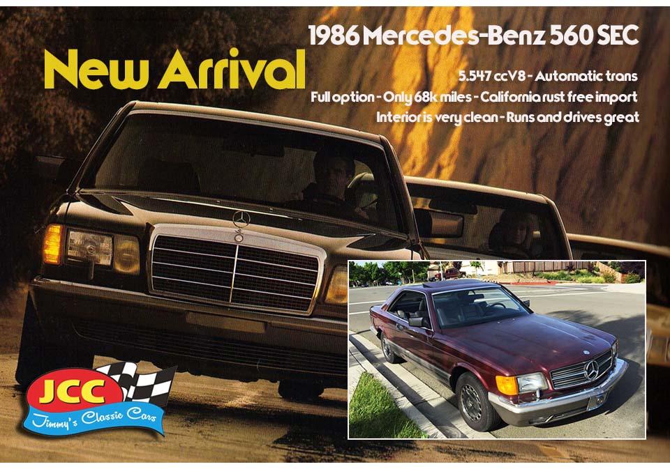 ad 86 Mercedes-Benz 560 SEC SF