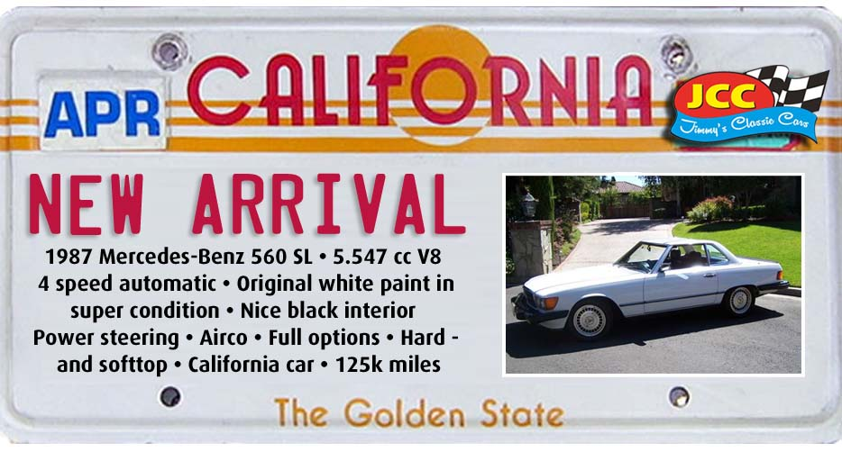 ad 87 Mercedes 566 SL white
