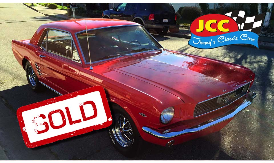 sold mustang red