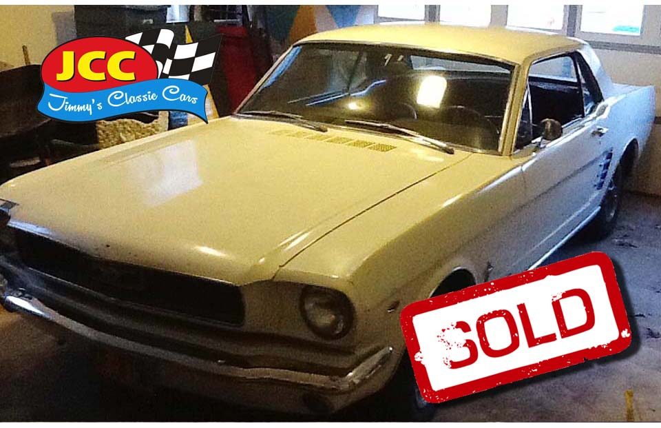 sold mustang white