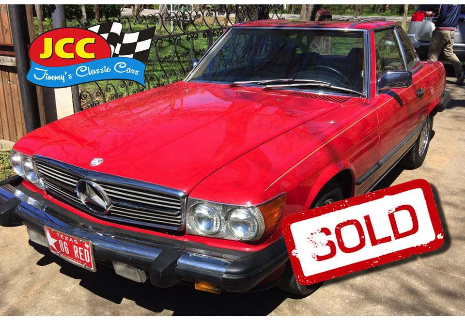 sold red mercedes