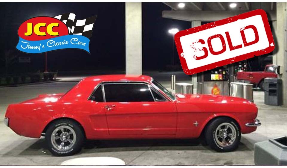 sold red mustang