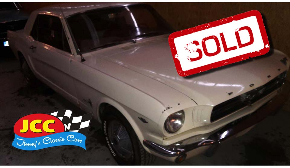 sold white mustang